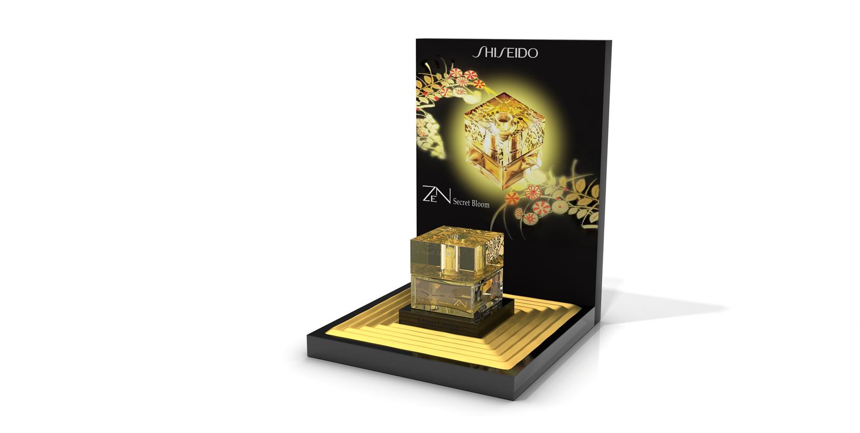 Display Shiseido Fragrance Zen 2013 Freelance 3d
