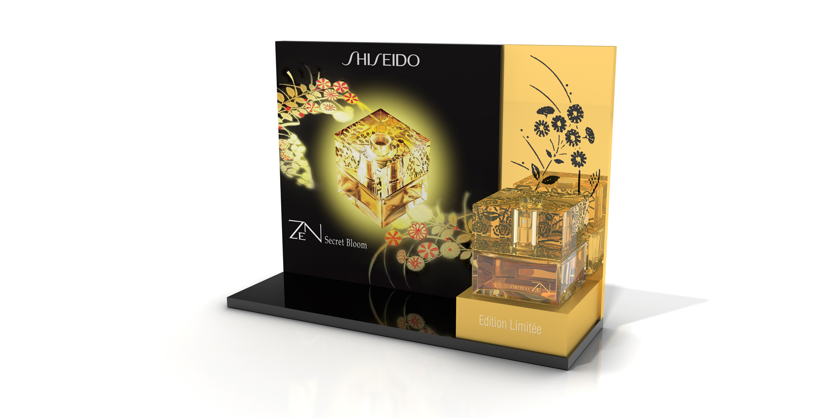 Display Shiseido Fragrance Zen 2013 Freelance 3d